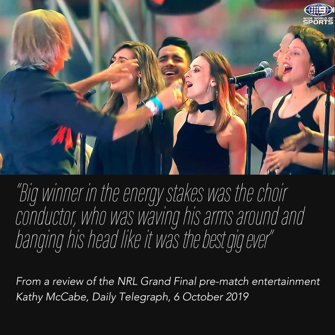 The best gig ever? NRL Grand Final
